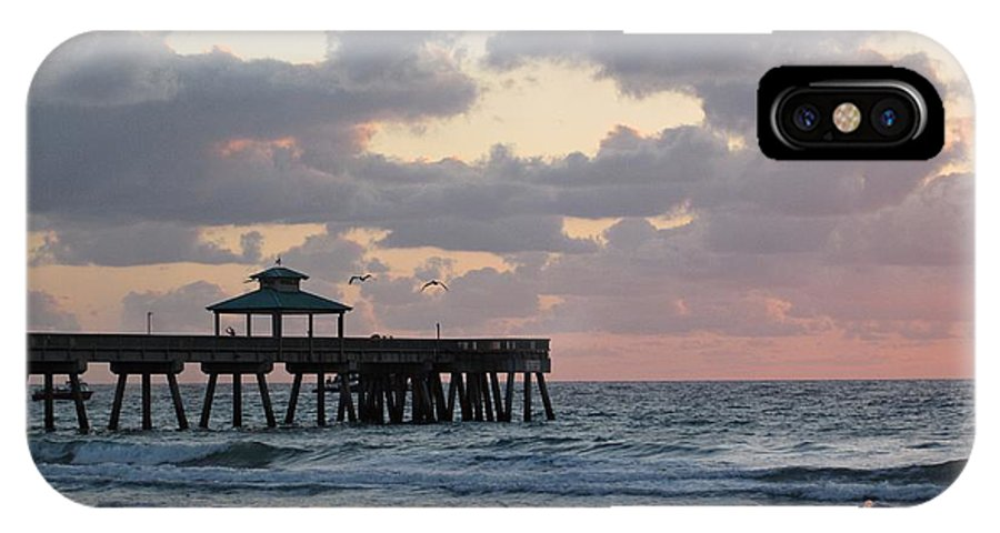 Florida IPhone X Case featuring the photograph Florida Fishing Pier by MTBobbins Photography
