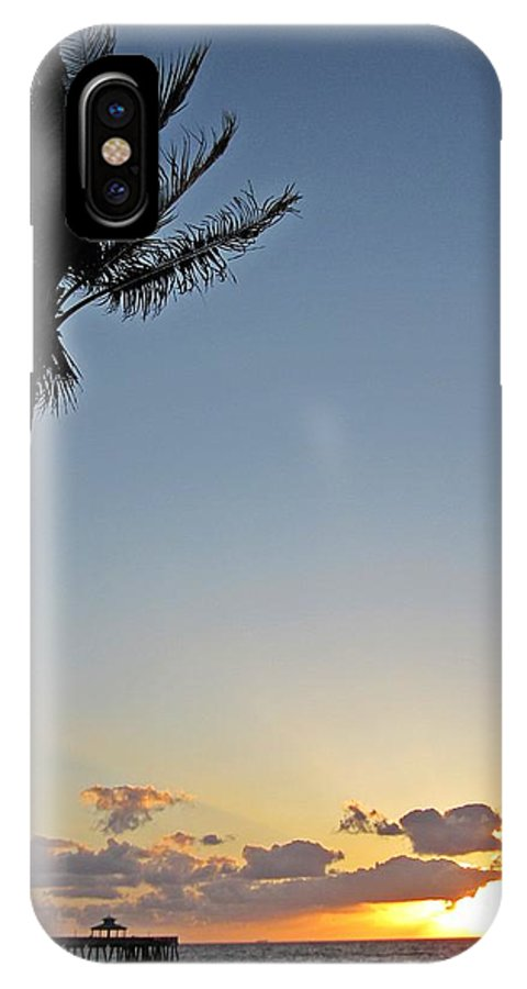 Palm Tree IPhone X Case featuring the photograph Florida Morning by MTBobbins Photography