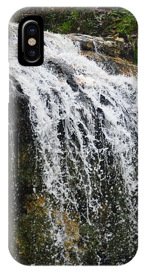 Waterfall IPhone X Case featuring the photograph Florida Waterfall by Edwina Hughes