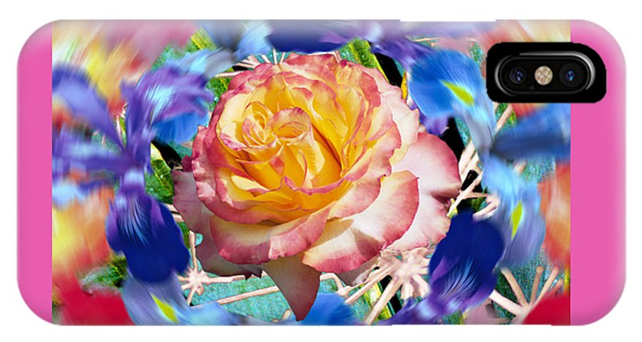 Flowers IPhone Case featuring the digital art Flower Dance 2 by Lisa Yount
