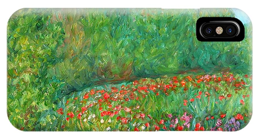 Blue Ridge Paintings IPhone X Case featuring the painting Flower Field by Kendall Kessler