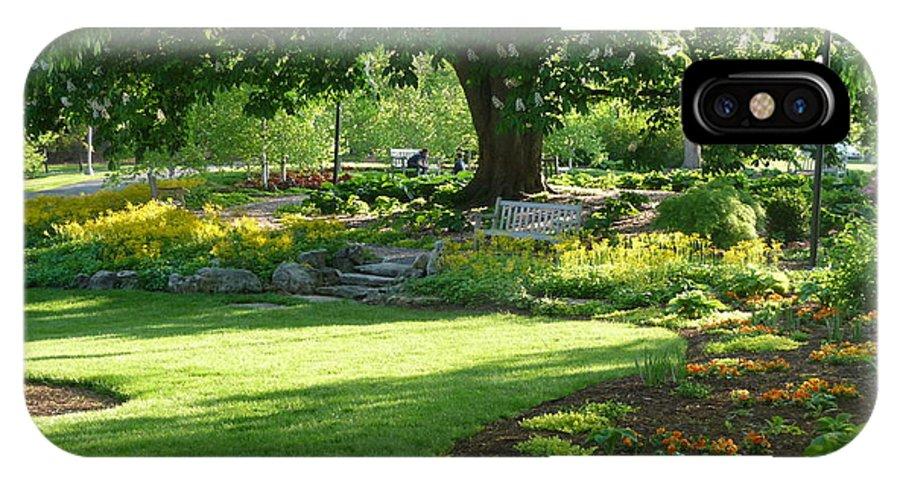 Flower Garden IPhone X Case featuring the photograph Flower Garden by Jon Cody