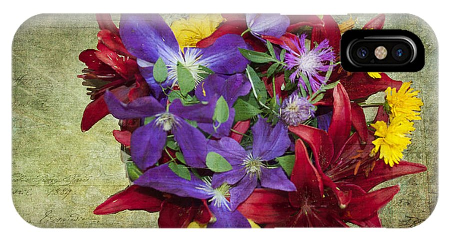 Quincy Illinois IPhone X Case featuring the photograph Flower - Garden Joy - Luther Fine Art by Luther Fine Art