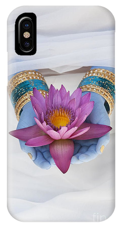 Indian Girl IPhone X Case featuring the photograph Flower Offering by Tim Gainey