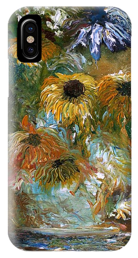 Flowers IPhone Case featuring the painting Flower Rain by Jack Diamond