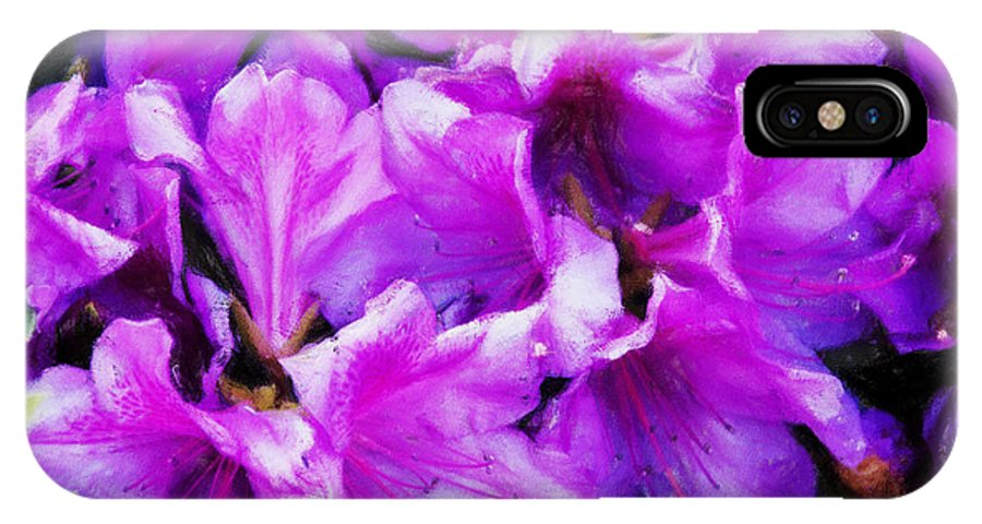 Flowers IPhone X Case featuring the digital art Flowers 2078 Acanthus by David Lange