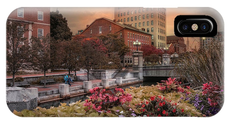 Providence IPhone X Case featuring the photograph Flowers In The City by Robin-Lee Vieira