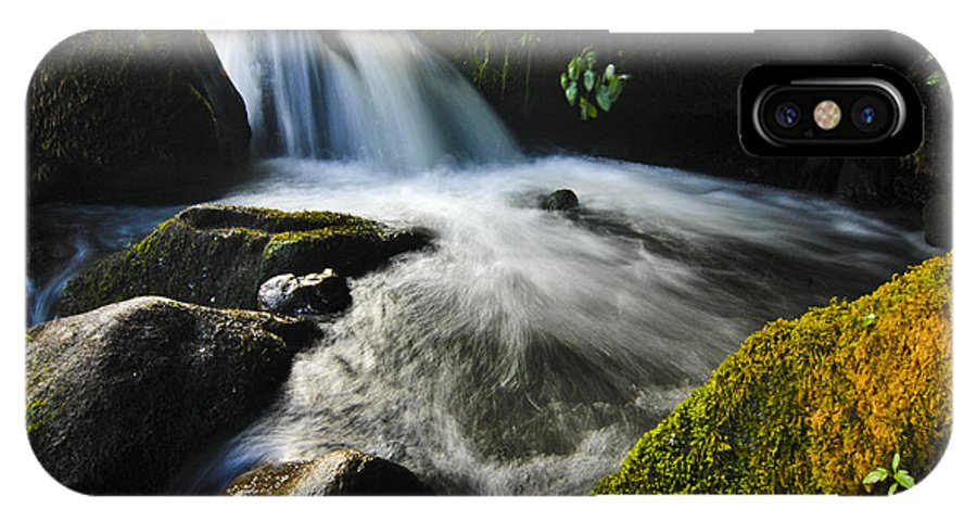 Stream IPhone X Case featuring the photograph Flowing Stream by Kevin Cable