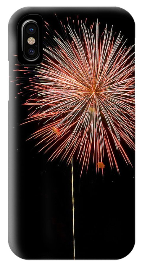 Fireworks IPhone X Case featuring the photograph Fluffy Red Ball by Devinder Sangha