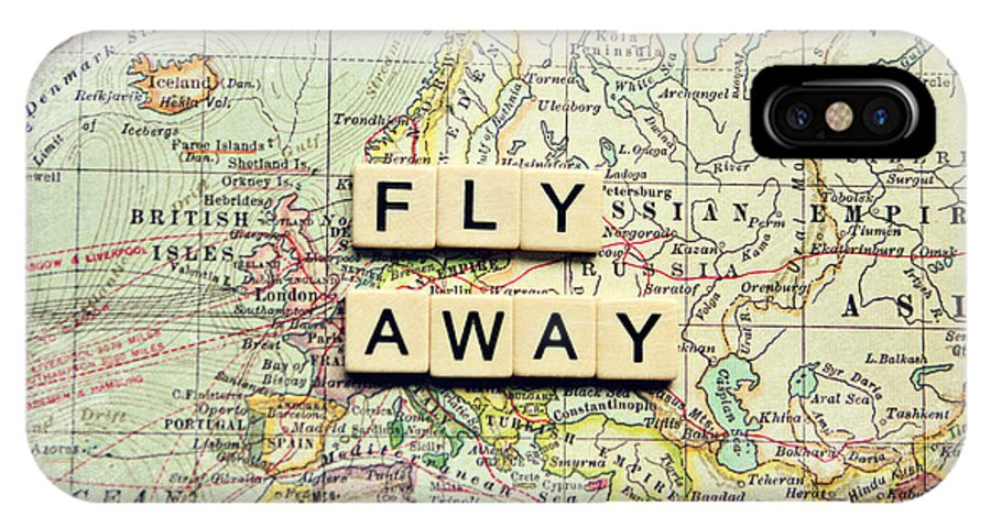 Map IPhone X Case featuring the photograph Fly Away by Sylvia Cook