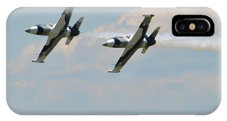 Planes IPhone X Case featuring the photograph Fly Boys by Judd Nathan