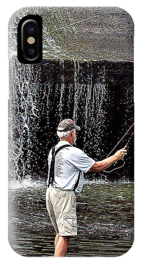 Image IPhone X Case featuring the photograph Fly Fishing Without Flies by B Wayne Mullins