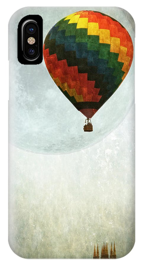 Balloon IPhone X Case featuring the photograph Fly Me To The Moon by Lisa Bryant