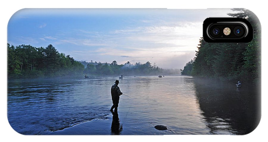 Fly Fishing IPhone X Case featuring the photograph Flyfishing In Maine by Glenn Gordon