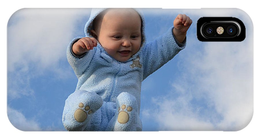 Baby IPhone X Case featuring the photograph Flying Baby by Stephan Pabst