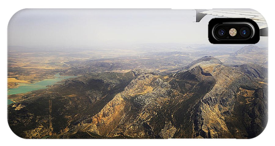 Spain IPhone X / XS Case featuring the photograph Flying Over Spanish Land I by Jenny Rainbow