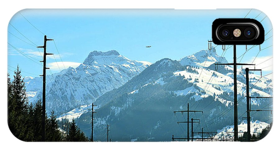 Cliff IPhone X Case featuring the photograph The Way To The Alps by Felicia Tica