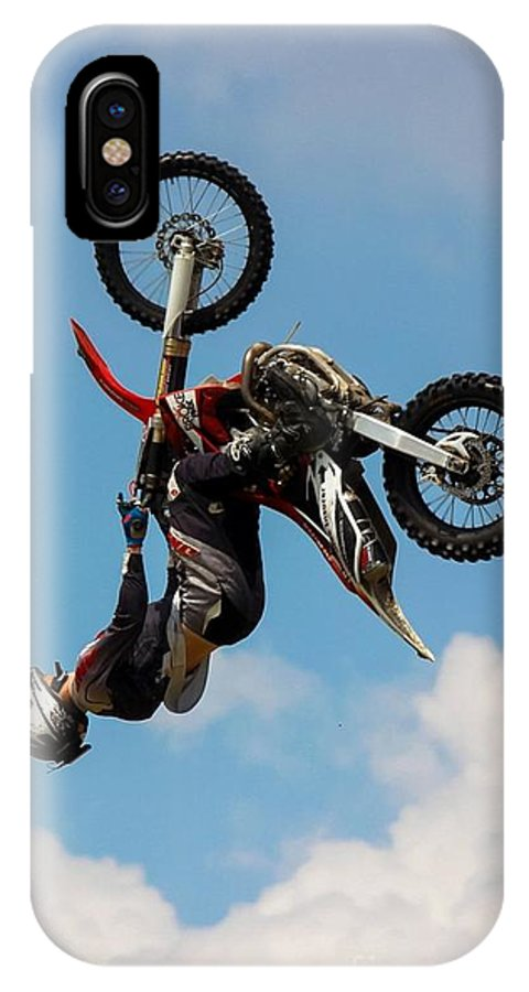Motocross IPhone X Case featuring the photograph Fmx Backflip by Tyler Howells