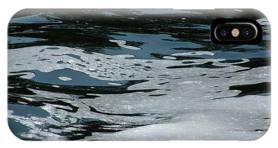 Water IPhone X Case featuring the photograph Foam On Water by Lynn Hansen