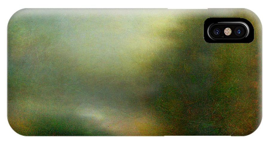 Digital IPhone X Case featuring the photograph Fog #3 - Silent Words by Alfredo Gonzalez