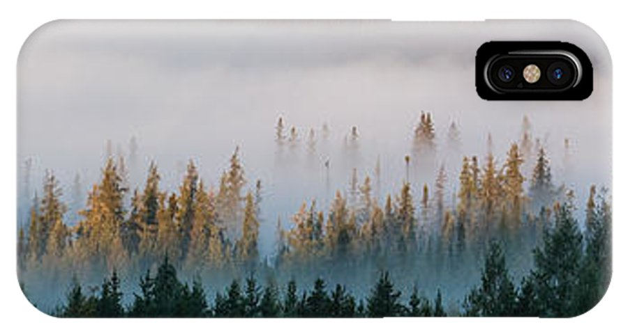 Trees IPhone X Case featuring the photograph Fog And Trees by Harry Cartner