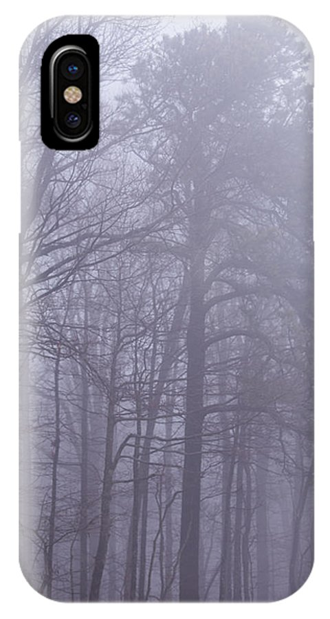 Fog IPhone X Case featuring the photograph Fog In The Smoky Mountains by John Carroll
