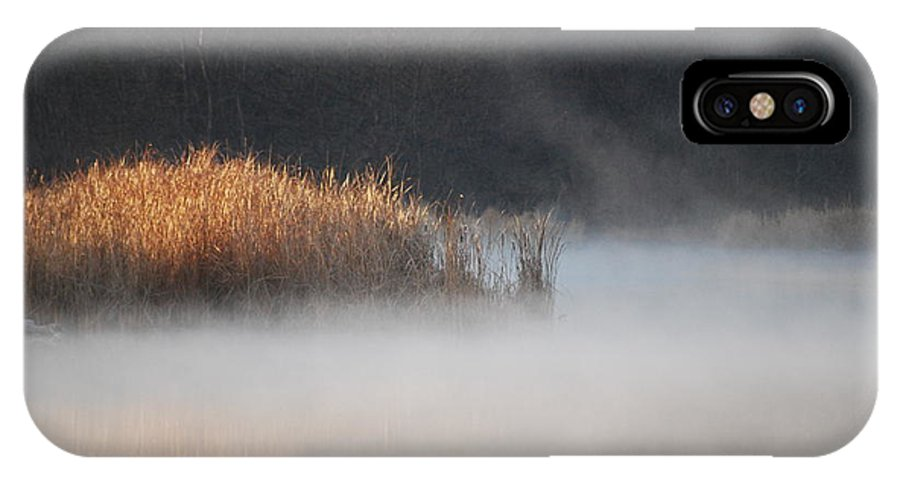 Fog IPhone X Case featuring the photograph Fog Lifting by Joy Bradley