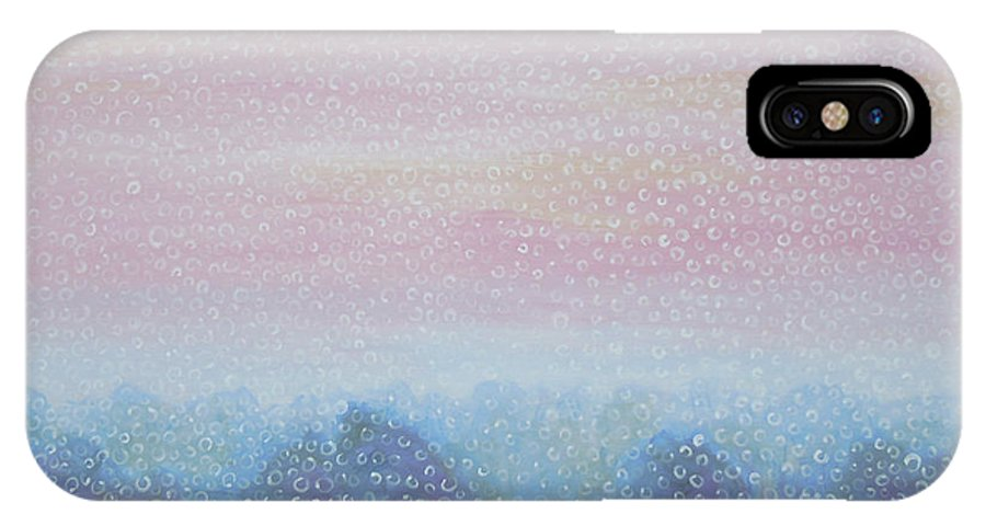 Landscape IPhone X Case featuring the painting Fog by Tonya Henderson