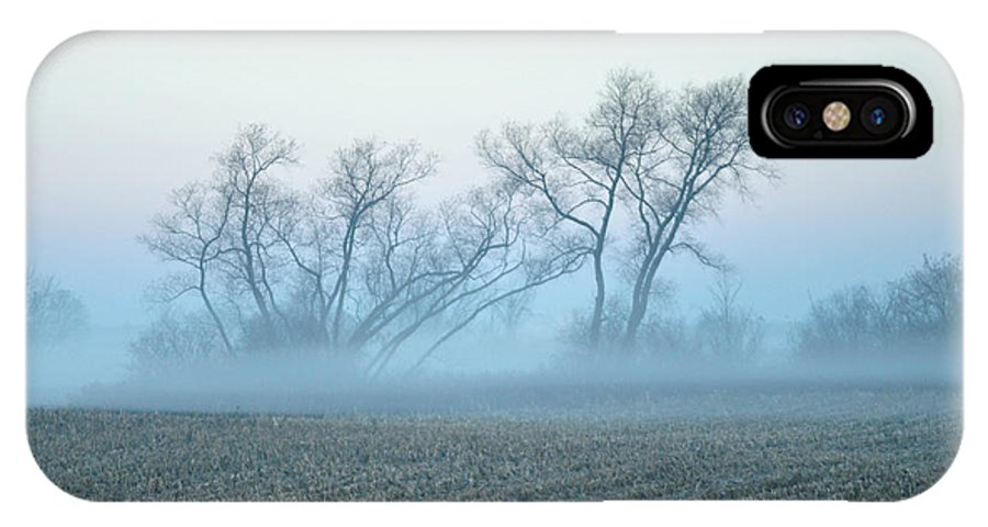 Tree IPhone X Case featuring the photograph Fog Warriors by Dennis Stanton