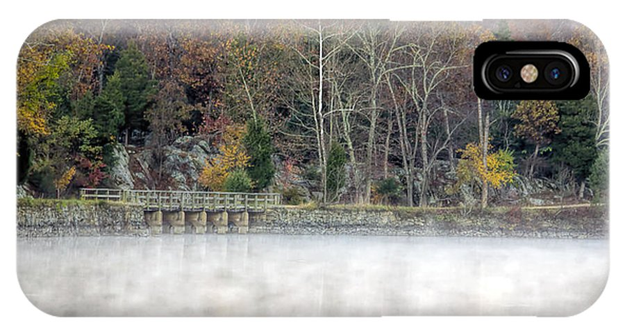 C&o IPhone X Case featuring the photograph Foggy Fall On Maryland Towpath by Francis Sullivan