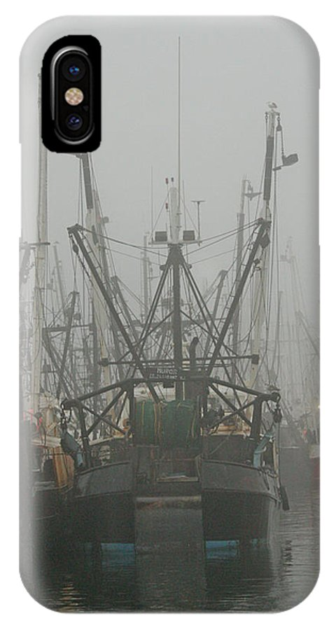 IPhone X Case featuring the photograph Foggy Harbor-2 by Nicholas Pullano