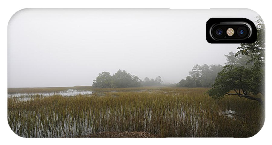 Fog IPhone X Case featuring the photograph Foggy Marsh by Dale Powell