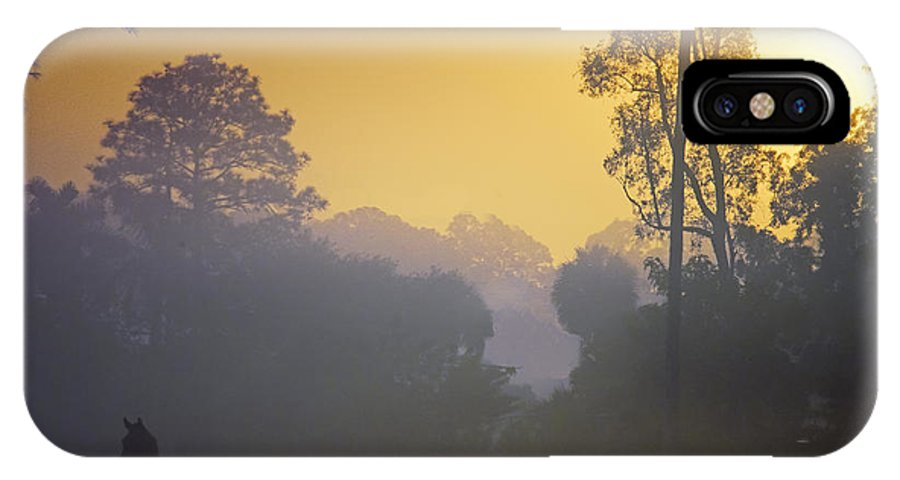 Foggy Morning IPhone X Case featuring the photograph Foggy Morning by Bret Hunter