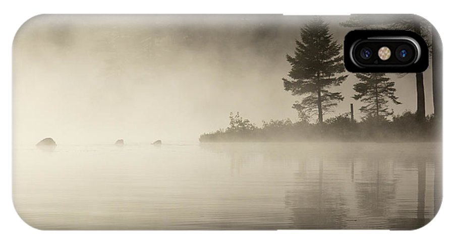 Sun IPhone X Case featuring the photograph Foggy Morning On The Water by Vance Bell