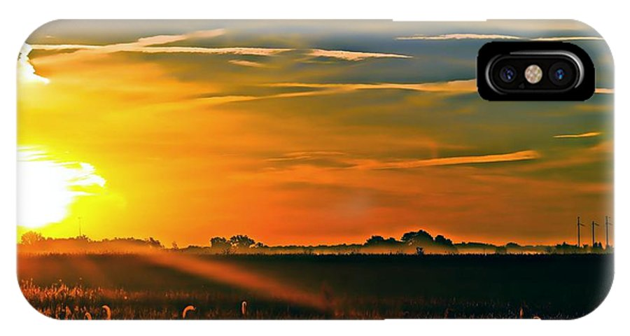 Fog IPhone X Case featuring the photograph Foggy Ohio Morning by Brian Druggan