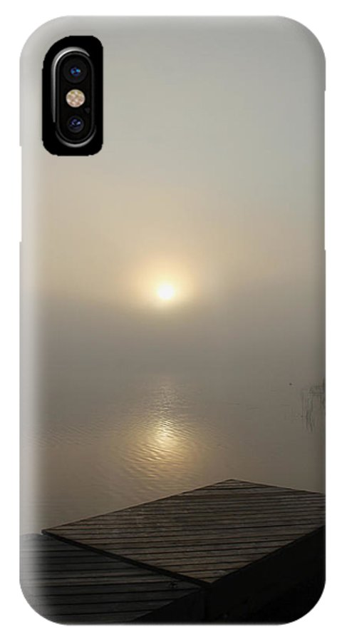 Fog IPhone X Case featuring the photograph Foggy Reflections by Debbie Oppermann