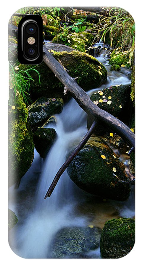 Fall Foliage IPhone X Case featuring the photograph Follow Me by Jeremy Rhoades