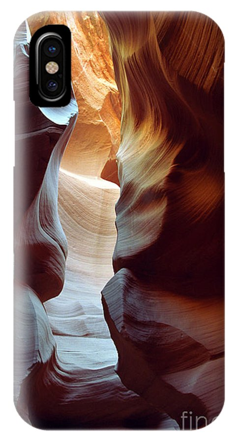 Slot Canyon IPhone X Case featuring the photograph Follow The Light II by Kathy McClure