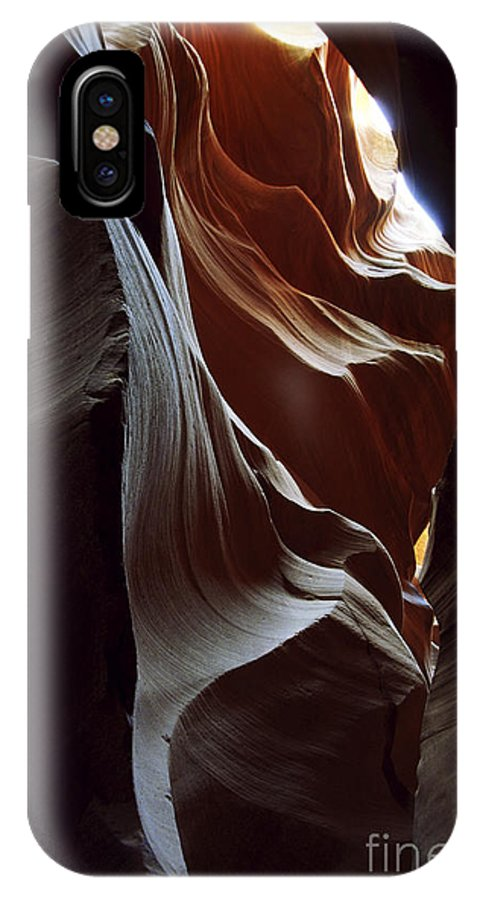 Antelope Canyon IPhone X Case featuring the photograph Follow The Light by Kathy McClure