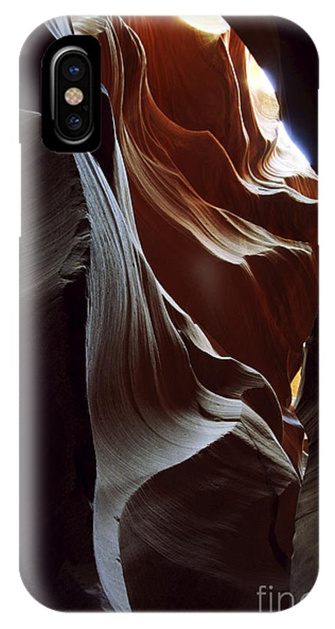 Antelope Canyon IPhone X / XS Case featuring the photograph Follow The Light by Kathy McClure