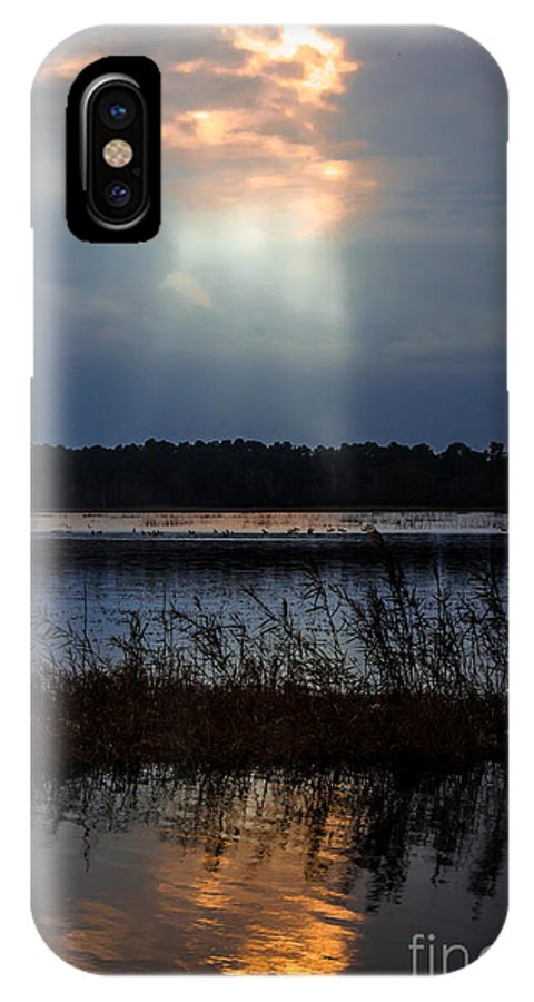 Follow IPhone X Case featuring the photograph Follow The Light by Scott Hervieux