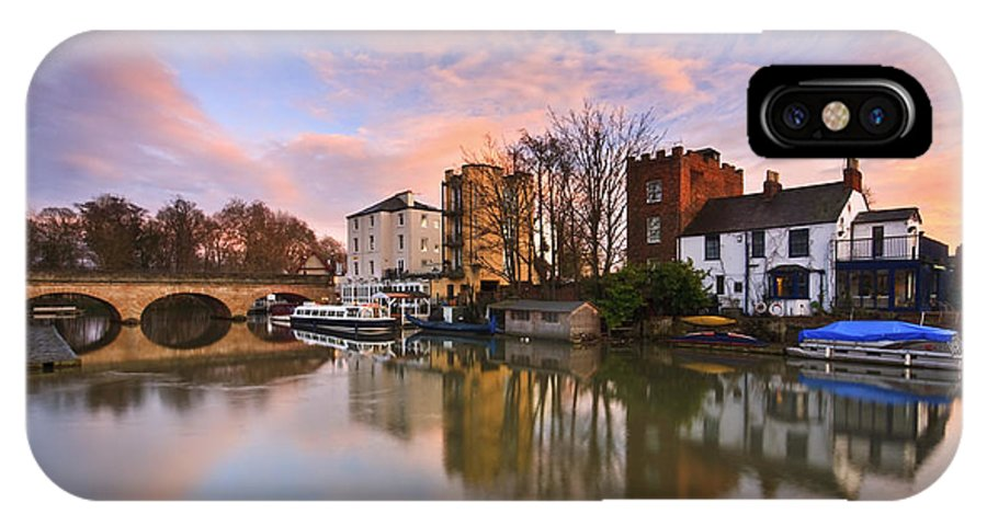 Great Britain IPhone X Case featuring the photograph Folly Bridge In Oxford. by Milan Gonda