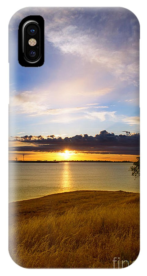 Folsom Lake IPhone X Case featuring the photograph Folsom Lake Sunset by Rima Biswas