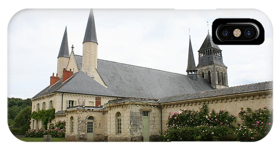 Cloister IPhone X Case featuring the photograph Fontevraud Abbey - France by Christiane Schulze Art And Photography