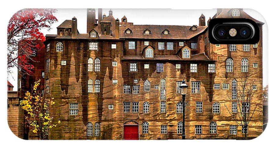 Fonthill IPhone X Case featuring the photograph Fonthill Castle - Experimental by Richard Ortolano