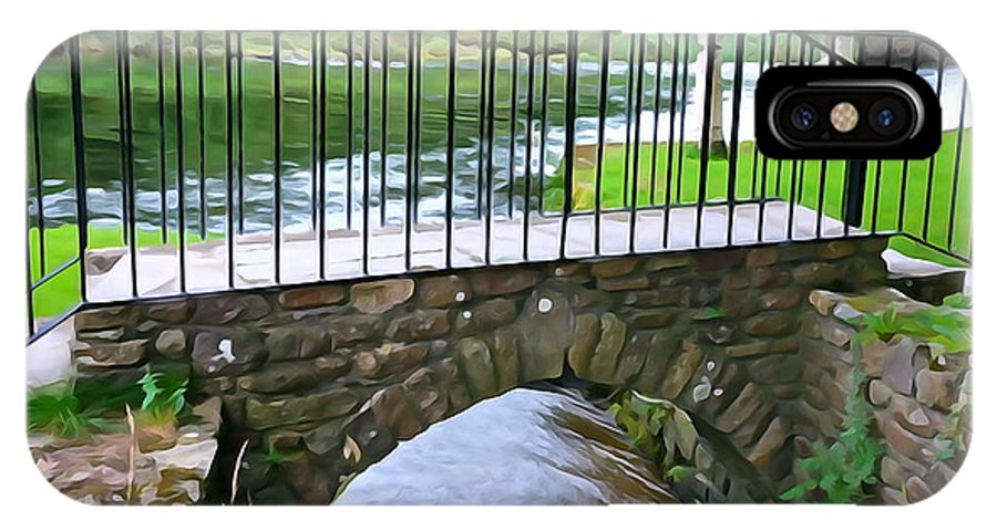 Inistioge IPhone X Case featuring the photograph Foot Bridge At Inistioge by Charlie and Norma Brock