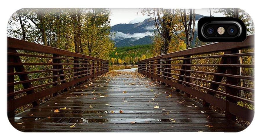 Foot Bridge IPhone X / XS Case featuring the photograph Foot Bridge In Grand Teton by Howard Edgley