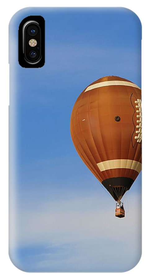 Hot Air Balloon Photograph IPhone X Case featuring the photograph Football Season by Dan Sproul