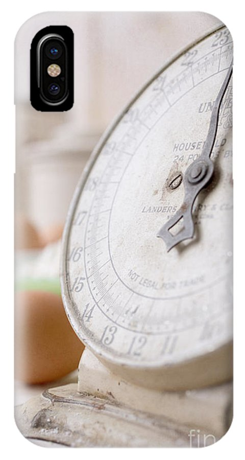Bake IPhone X Case featuring the photograph For The Baker Vintage Kitchen Scale by Edward Fielding