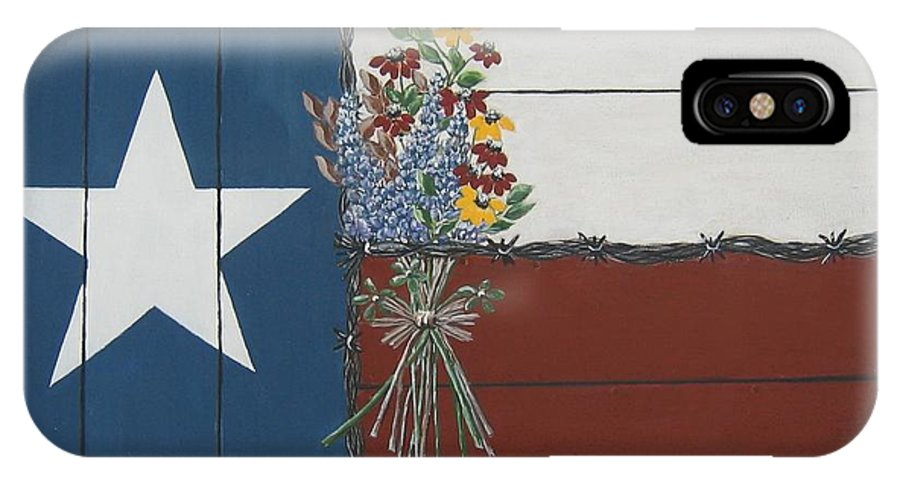 Texas IPhone Case featuring the painting For The Love Of Texas by Suzanne Theis